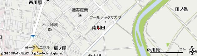 福島県郡山市田村町上行合(南川田)周辺の地図