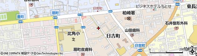 新潟県柏崎市日吉町周辺の地図