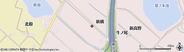 福島県郡山市三穂田町川田(新橋)周辺の地図