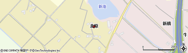 福島県郡山市三穂田町駒屋(北原)周辺の地図