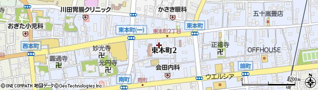 新潟県柏崎市東本町周辺の地図