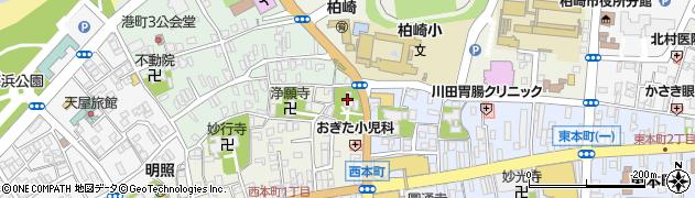 柏崎神社周辺の地図