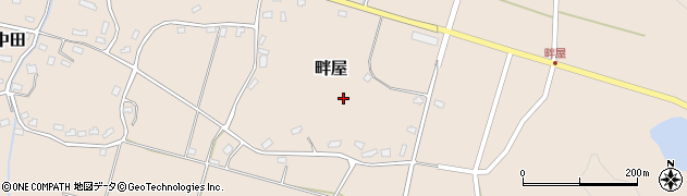 新潟県柏崎市畔屋周辺の地図