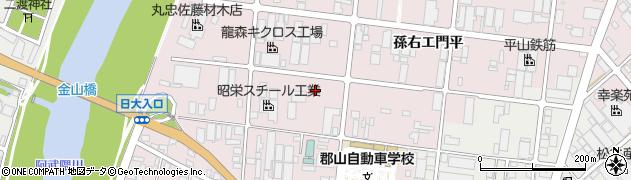 福島県郡山市田村町金屋(新家)周辺の地図