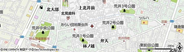 福島県郡山市安積町荒井(年柄)周辺の地図