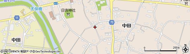 新潟県柏崎市中田周辺の地図
