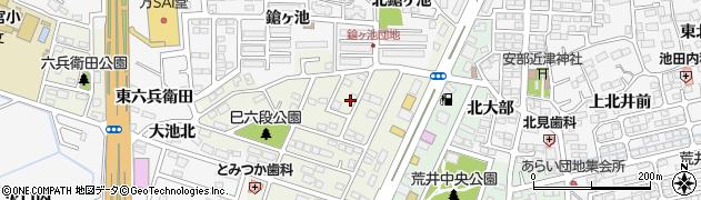 福島県郡山市安積町荒井(雷神山)周辺の地図