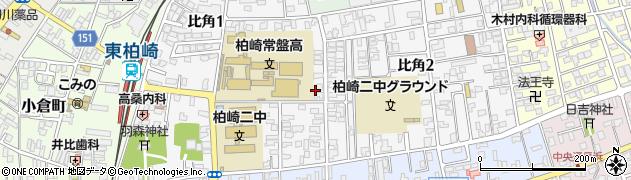 新潟県柏崎市比角周辺の地図