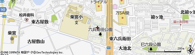 福島県郡山市安積町周辺の地図