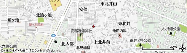 福島県郡山市安積町荒井(北井後)周辺の地図