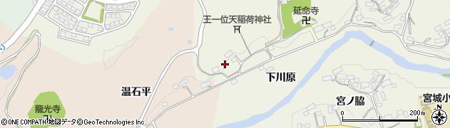 福島県郡山市中田町高倉(大平)周辺の地図
