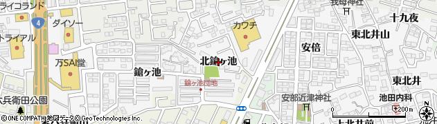 福島県郡山市安積町荒井(北鎗ヶ池)周辺の地図