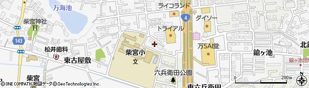 福島県郡山市安積町荒井(六兵衛田)周辺の地図