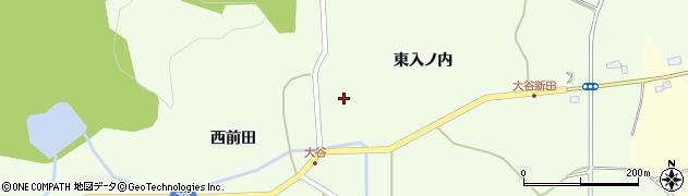 福島県郡山市三穂田町大谷(東前田)周辺の地図