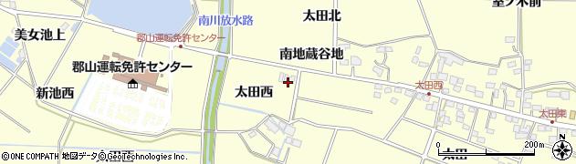 福島県郡山市大槻町(太田西)周辺の地図