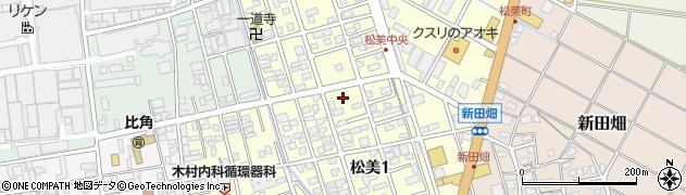 新潟県柏崎市松美周辺の地図