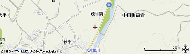 福島県郡山市中田町高倉(茂平前)周辺の地図