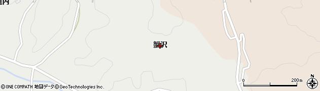福島県郡山市中田町木目沢(蟹沢)周辺の地図