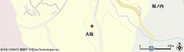 福島県郡山市中田町黒木(大坂)周辺の地図