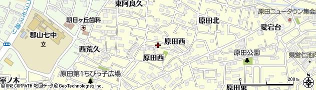 福島県郡山市大槻町(原田際)周辺の地図