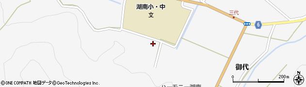 福島県郡山市湖南町三代(葭ケ作)周辺の地図