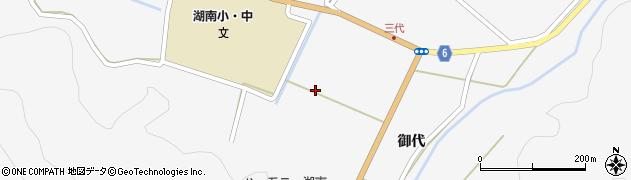 福島県郡山市湖南町三代(原木)周辺の地図
