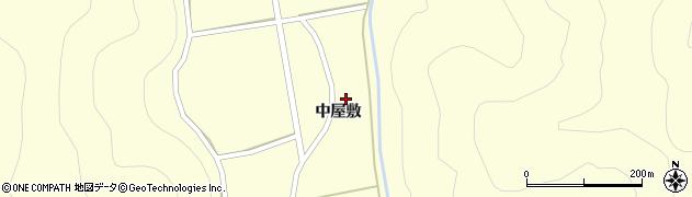 福島県郡山市湖南町中野(中屋敷)周辺の地図