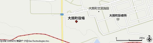 福島県双葉郡大熊町周辺の地図
