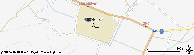 福島県郡山市湖南町三代(中田)周辺の地図