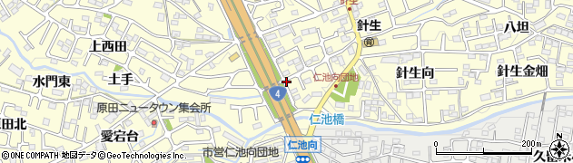 福島県郡山市大槻町(下西田)周辺の地図