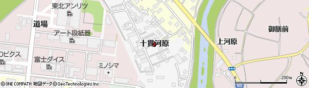 福島県郡山市十貫河原周辺の地図