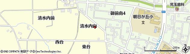 福島県郡山市大槻町(清水内向)周辺の地図