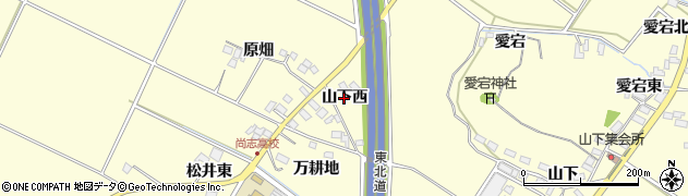 福島県郡山市大槻町(山下西)周辺の地図
