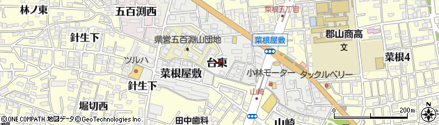 福島県郡山市台東周辺の地図