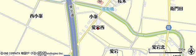 福島県郡山市大槻町(愛宕西)周辺の地図