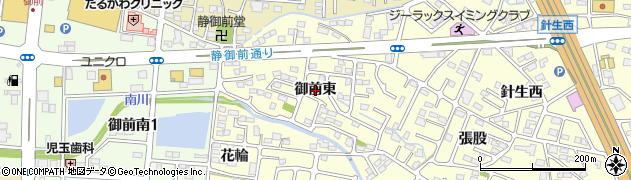 福島県郡山市大槻町(御前東)周辺の地図