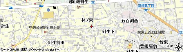 福島県郡山市大槻町(林ノ東)周辺の地図