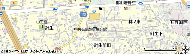 福島県郡山市大槻町(笹ノ台)周辺の地図