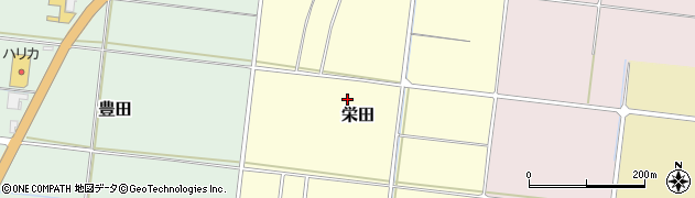 新潟県柏崎市栄田周辺の地図