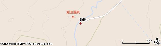 福島県郡山市逢瀬町多田野(源田)周辺の地図