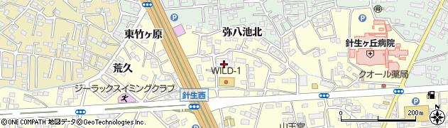 福島県郡山市大槻町(弥八池南)周辺の地図