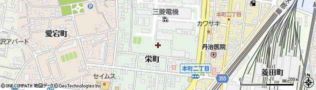 福島県郡山市栄町周辺の地図