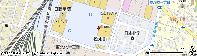 福島県郡山市松木町周辺の地図