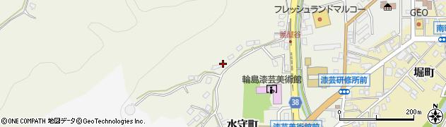 石川県輪島市水守町周辺の地図