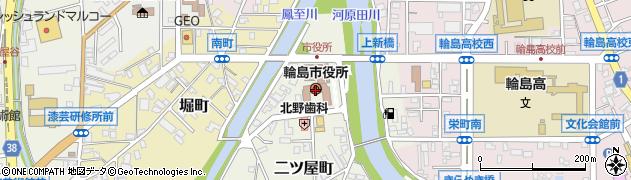 石川県輪島市周辺の地図