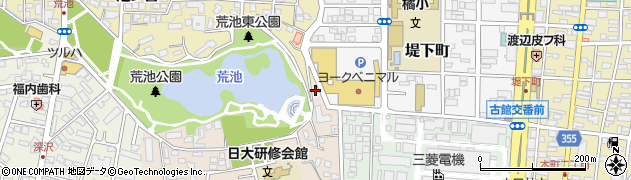 福島県郡山市愛宕下周辺の地図
