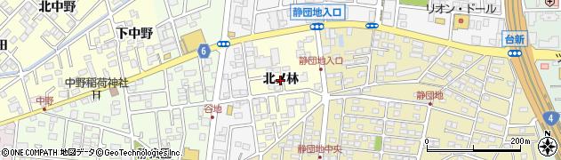 福島県郡山市大槻町(北ノ林)周辺の地図