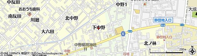 福島県郡山市大槻町(下中野)周辺の地図