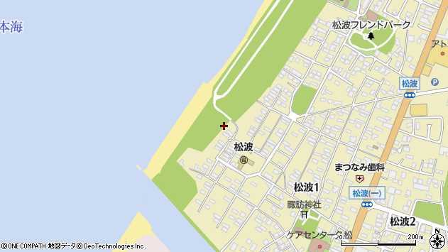 〒945-0011 新潟県柏崎市松波の地図