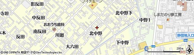 福島県郡山市大槻町(北中野)周辺の地図